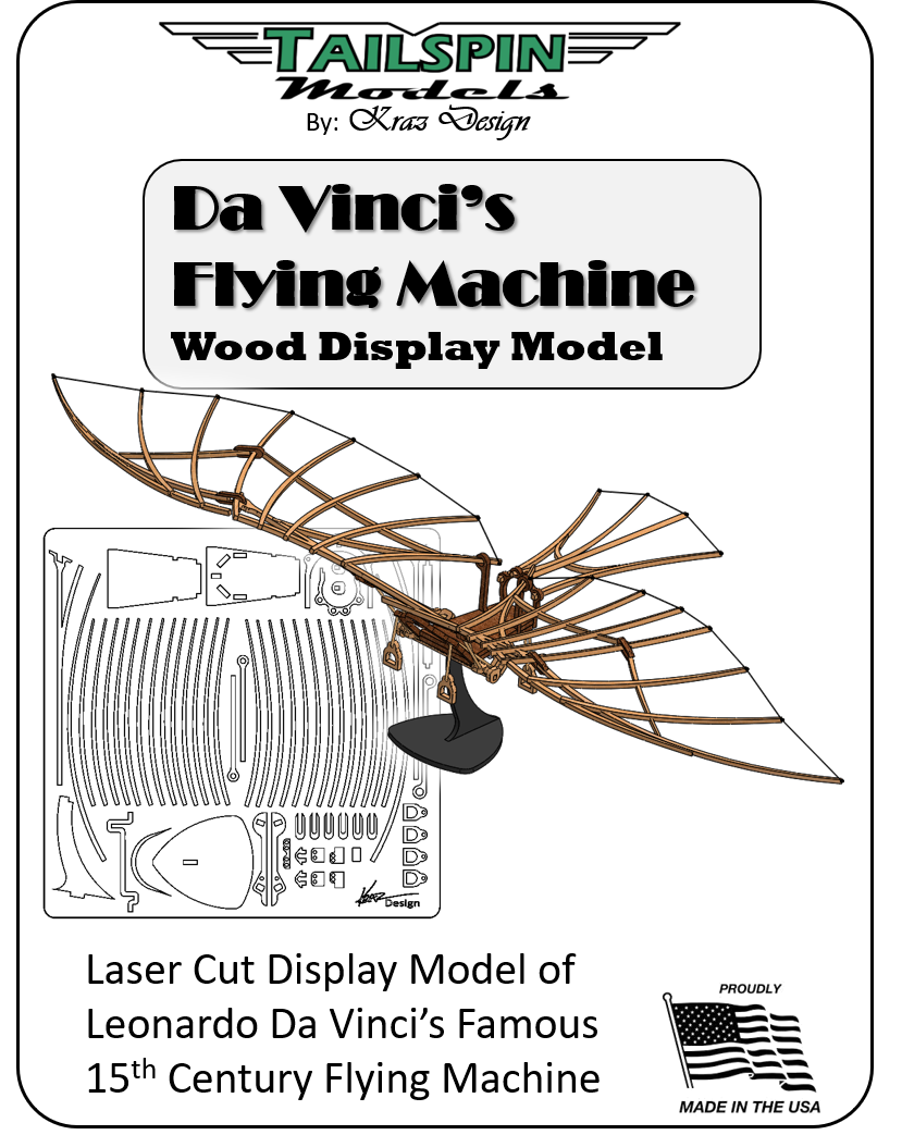 Laser-Cut Model: Da Vinci Flying Machine