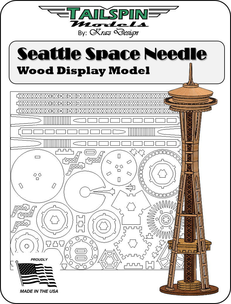 Seattle Space Needle Wood Model Kit