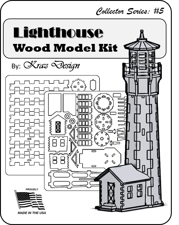 Lighthouse Wood Model Kit
